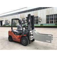 3 ton diesel forklift truck 3m two stage mast with bale clamp attachment