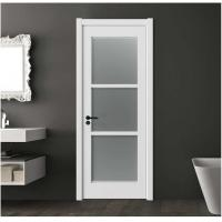 Quality Secure Frosted Glass Interior Door 40mm Total Thickness 1100mm Max Width for sale