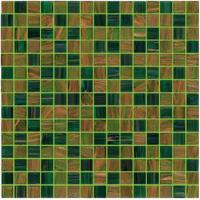 Quality Green for your garden gold line 20mm glass mosaic mix patter decoration for sale