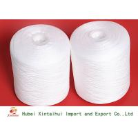 Raw White 100% Ring Spun Polyester Yarn For Fabric Sewing No Knot