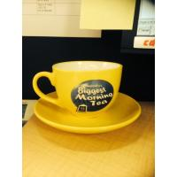 Quality Porcelain Cappuccino Size Coffee Cup/Saucer Set, SA8000/SMETA Sedex/BRC/ISO/SGP/BSCI Audit for sale