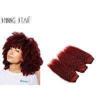 Quality Afro Kinky Curly Human Hair Bundles 3 Weaves Extensions For Black Woman for sale