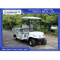 China White color 48V / 3kW 2 Seats Farm Electric Cargo Fan / Mini Utility Vehicle model F047 with cargo van on sale