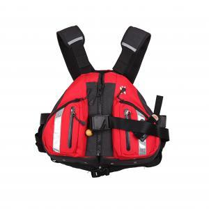 China Slim PFD Life Jacket PU Coated Plaid Fabric Freely Adjustable High Pulling Force on sale
