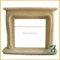 Quality Best Design Carved Yellow Fireplace Shelf for sale