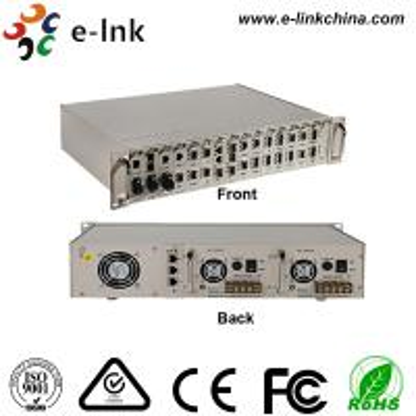 Buy Centralized Manageable Ethernet Fiber Media Converter , 16 Slots Fiber Optic Media Converter at wholesale prices