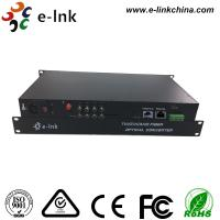 Quality 8 Ch 1080P AHD Video Cctv Media Converter 1 Ch Backward Data RS485 Type 20km Transmission for sale
