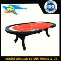 China Wood 10 Person High Top Poker Table Texas Holdem With Cup Holders Stainless wholesale