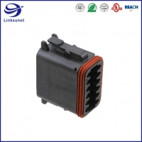 Quality DT06 IP68 2 Row Crimp Plug TE Connectivity AMP Connectors for Industrial equipment for sale
