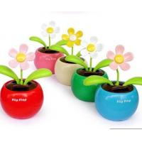 Quality car toys Creative Solar Power Dancing Flower Flip flap Swing Flower for Car/home gift for sale