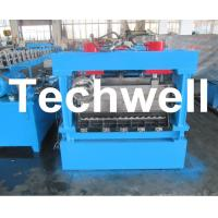 Quality 1250mm Material Width, Steel Metal Corrugated Panel Forming Machine With Punching for sale