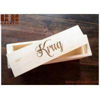 China Wooden Wine Box Personalized Rustic Wood Wine Box, Wedding and Anniversary Gift on sale