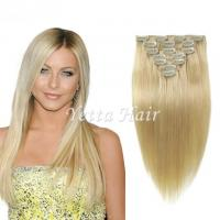 Quality Brazilian Straight Clip In Pre Bonded Hair Extensions No Any Bad Smell for sale