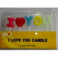 China I LOVE YOU letters candles birthday cake candles Wedding Cake candles on sale