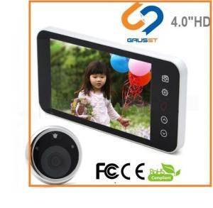 China TFT LCD Screen Smart Door Peephole / Hd Peephole Viewer Visual Doorbell on sale