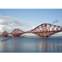 Quality Multi Span Surface Painted Protection Steel Structural Truss Bridge Overcrossing River for sale