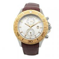 China Luxuty Ladies Gold Watches , Mechanical Watch Womens With Dual Time on sale
