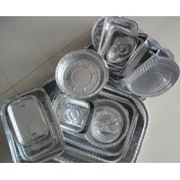 Quality Thin Disposable aluminium foil food containers Double Bright Side for sale