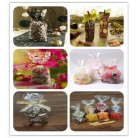 China Clear OPP Packaging Bags For Cookies , Stand up OPP Square Bottom Bags on sale