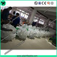 Quality Hot Sale 10m Wedding Event Decoration White Inflatable Rose Flower Chain With LED Light for sale