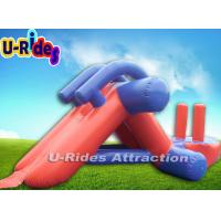 Quality Purple Safety Inflatable Aqua Park / Inflatable Pool Water Slides Rentals for sale