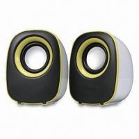 Quality USB 2.0 Mini Speaker, Powered in 2.5W x 2, Available from 30Hz to 20Hz in Frequency Response Range for sale