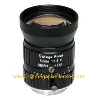 """Quality 1/1.7"""" 5mm F1.6 Megapixel Manual IRIS C Mount Industrial FA Lens, 5mm 5MP Machine Vision Industrial Lens for sale"""