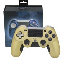 China Elite Ps4 Wireless Joystick Non - Slip Surface Gold Color USB Cable Game Accessories on sale