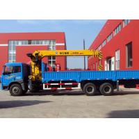 Quality Hydraulic Cargo Lorry Mounted Crane safety With Telescopic Boom for sale