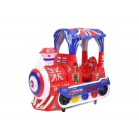 Quality 3D Interactive Game Small Train Carnival Kiddie Ride for sale