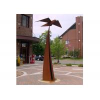 Quality Out Door Garden Art Sculpture Corten Steel Decorative Square Long Life for sale
