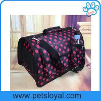 Factory Pet Supply Product Oxford PU Large Travel Pet Dog Cat Carrier Bag