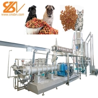 Quality Cat Food Making Machine / Cat Feed Processing Equipment With SGS for sale