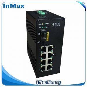 China 10 ports managed switch 10 /100/1000Mbps transmission rate 7+3G Gigabit Fiber Optic Ethernet switch on sale