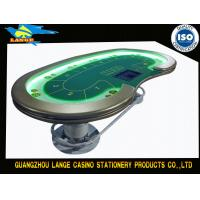 Buy cheap Casino Gaming 10 Seat LED Texas Holdem Poker Table With LED Strip Rope from wholesalers