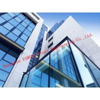 Quality Half Hidden Frame With Laminated Insulation Double Skin Glass Curtain Wall For Commercial Building for sale