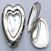 Quality Metal Pocket Mirror, Decorated with Swarovski Crystal Stones for sale