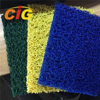 China Looping Yarn Solid Color 100% PVC Flooring Carpet By Rolls / Pieces 11mm Thick on sale