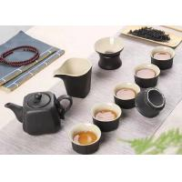 Quality Custom Black Color Ceramic Mugs Ceramic Tea Set For Family Party / Tea Shop for sale