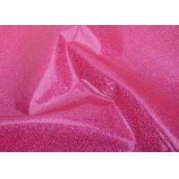 China Cosmetic Bag Material Glitter Pvc Fabric / Glitter Pvc Film For Making Bags on sale