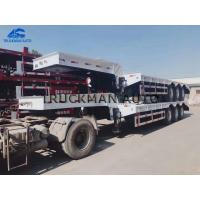 China 60 Ton Low Bed Semi Trailer With 12.00r20 Tire For Long Haul Freight Transport on sale