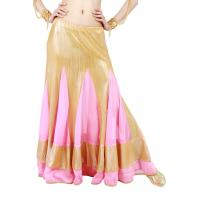 Quality Chiffon piecing gorgeouslong belly dance skirts  360 degree  length  92cm for sale