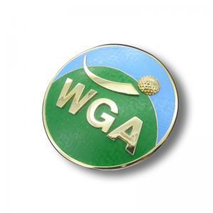 Quality Factory direct golf club car badge club logo car head metal badge for sale