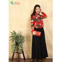 China Custom Snug - Fitting Modern Qipao Top , Bias - Cut Jersey Cheongsam Crop Top on sale
