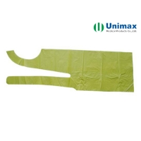 Quality Green Polyethylene LDPE Disposable Plastic Aprons 65g for sale