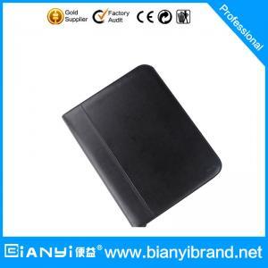 China Customize quality PU A4 plastic business art leather portfolio on sale