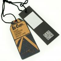 Tide Brand Clothing Hang Tags With String , Custom Printed Logo Swing Tags