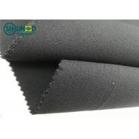 Buy Medium Weight 76 Gsm Twill Woven Interlining Fabric With PA Double Dot at wholesale prices