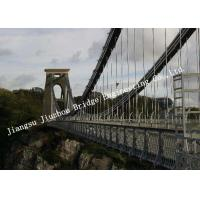 Quality Pre-engineered Wire Suspension Bridge For Transportation Customized Overcrossing for sale
