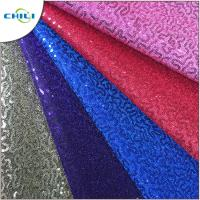 China High Quality Glitter Pu Mesh Good Synthetic Leather For Lady Shoes Meter Price on sale